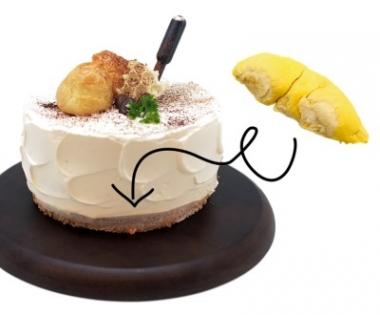Kopi O Cat Mountain King Durian Cake